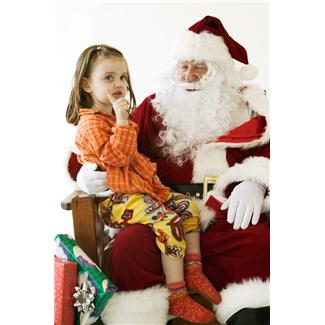 girl on santas lap