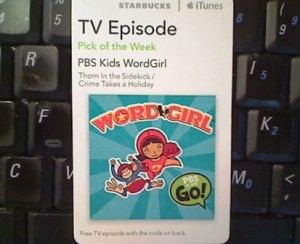 Starbucks Pick of the Week Word Girl