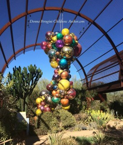 Chihuly blown glass suspended balls 1177