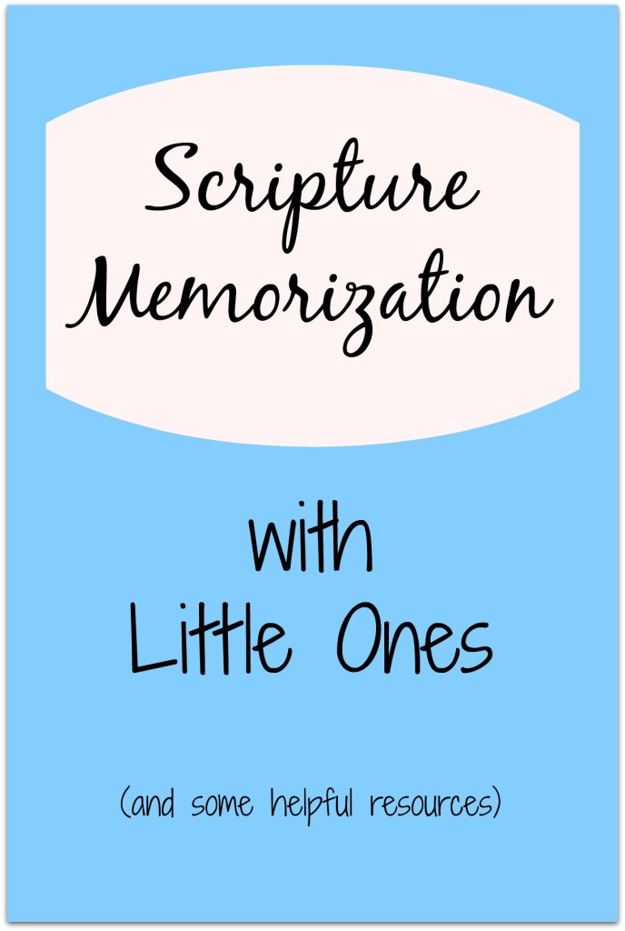 Scripture Memorization with Little Ones