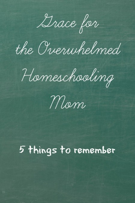 grace for the overwhelmed homeschooling mom